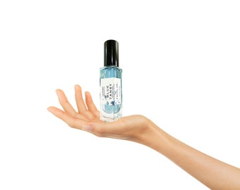 Organic BLUE TANSY Facial Oil  Balances & Restores Facial Moisturizer.  Glass Bottle with Treatment Pump All Natural Face Oil