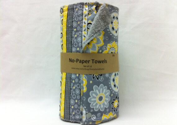 Unpaper towels, reusable paper towels, cloth paper towels, snapping paper towels  -  Suzani Collection