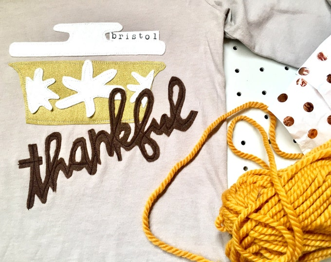 "Swanky Shank ""Thanksgiving"" Hand-Dyed Pyrex Tee or Bodysuit"