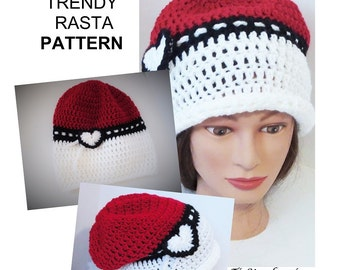 Super Trendy Rasta PATTERN, Instant Download, Step by Step Crochet Pattern,