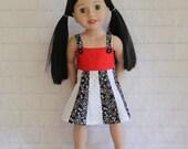 Totally Summer Panel Dress White & Black- Dolls Clothes for Australian Girl dolls