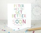 Funny Get Well Card 'Get Better Soon' - personalised card -funny card - cheeky card - get well soon - hospital - illness - uk