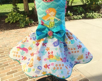SUMMER:  Under the Sea Mermaid Dog Dress