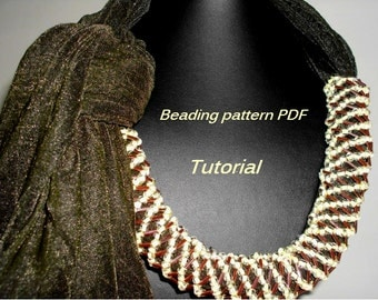 Bead weaving necklace . Beaded rope pdf. Beading Tutorial. Beading pattern PDF. Instant download.