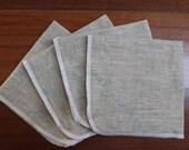Linen Napkins Set of 4 Cloth Napkins 12 x 12 Wave Detail
