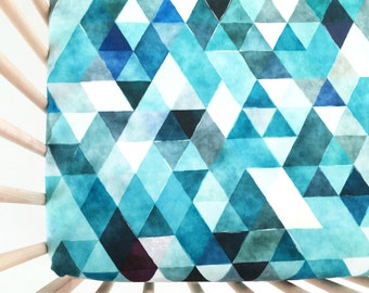 Crib Sheet Teal Watercolor Triangles. Fitted Crib Sheet. Baby Bedding. Crib Bedding. Crib Sheets. Navy Crib Sheet.