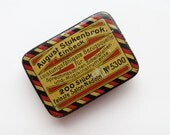 Tiny August Stukenbrok Einbeck Needle Box Vintage 70s Small Metal Tin Original German Vintage Sewing Supplies Needle Storage