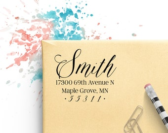 Custom Address Stamp, Personalized Address Stamp, Self Ink Custom Address Stamp, Self Ink Return Address Stamp