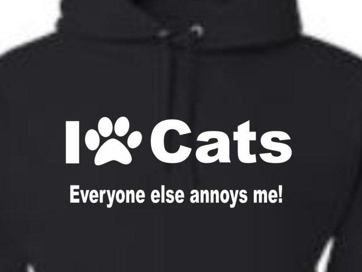 love cats sweatshirt,cat hoodie, pet apparel, cat apparel, funny hoodies,unisex hoodie, Hoodies, Adult hoodies, hooded sweatshirt,
