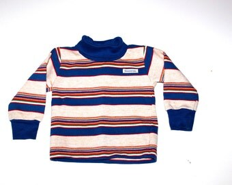 VINTAGE HIPSTER SHIRT - Retro Garanimals - Stripes - Baby Boy