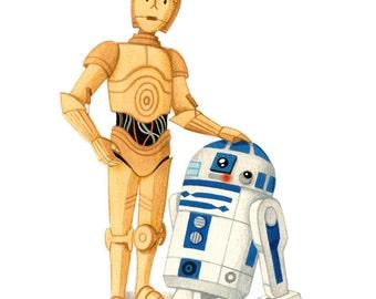 Star Wars - R2D2 & C3PO - open edition art print