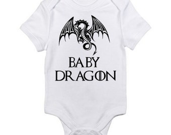 Game of Thrones Onesie / Baby  Dragon Onesie / Game of Thrones Baby Clothes / Baby Shower Gift / Game of Thrones Baby Khaleesi Dragon Onesie