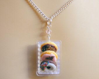 Food Jewelry Donuts Necklace, Glazed Donuts Pendant, Doughnuts Necklace, Miniature Food Jewellery, Mini Food, Donut Jewelry Donut Charm