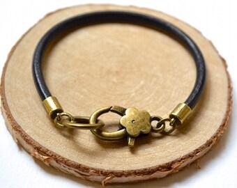 Leather Bracelet - Boho Style - Handmade