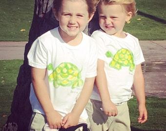 Turtle Shirt Hawaii - Hawaii Baby Shirt - Hawaii Baby Gift - Turtle Shirt - Hand Painted Turtle - Toddler Turtle Shirt - Kauai Hawaii Shirt