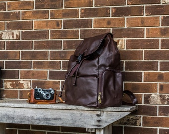 DSLR Camera Bag   Leather Backpack Camera Bag     Camera Bag