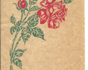 E-Z-ON Iron on Decorations Mail Order Red Rose