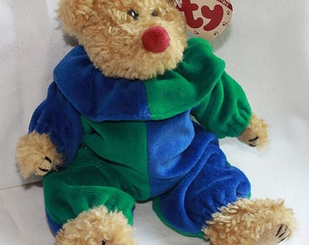 Ty Beanie Baby Bear - Piccadilly Clown - Attic Treasures Collection - Jester - Collectible - Plush - Toy - Stuffed Animal