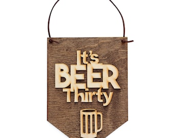Beer Signs - Gifts for Him - Bar Signs - Man Cave Sign Decor - Gift Ideas for Beer Lover, Wood Signs, Stocking Stuffers, Gifts Under 15
