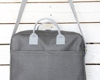 Grey Laptop Bag, Laptop bag 15.6, Macbook bag, Laptop Messenger Bag, Womens laptop bag, Laptop shoulder bag