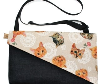 SALE! Cats, Messenger bag, cross body bag