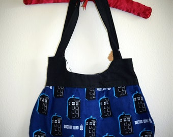 Simply Blue TARDIS Print Doctor Who Themed Purse - Handmade Geek Chic