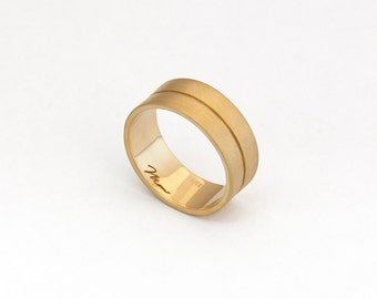 Wide wedding band, Wide gold band ring, Wide wedding gold band, Wide gold wedding band men or women, Unique gold wedding band, mens wedding