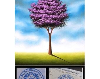 Giclee Print of Lavender Tree Painting, Whimsical Art Print, Contemporary Landscape, Purple Tree Art Print, Home Decor, Pastel Wall Art
