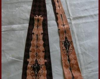 Vintage Swing Tie Necktie 1940's 50's Vintage Tie