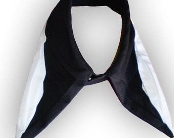 Black origami collar, fabric neckalce accessories