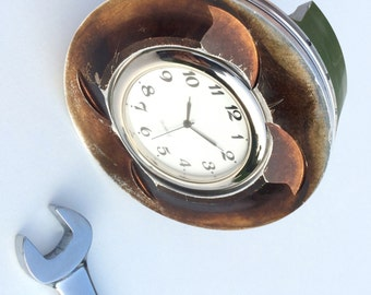 Aston Martin Le-Mans GT race car piston clock office desk table mantle accessory motorsport engineering businessman guys mans racing gift