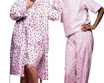 UNCUT Misses' Pajamas Pattern McCall's 2476 Size S-XXL Nightgown, Pajama Pants, Robe, Pajama Shorts, Elastic Waist, Crop Top