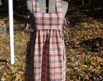 Vintage 70s Plaid Jumper Dress by Mindy Malone