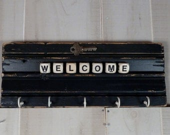 Key Holder Welcome Rack Architectural Salvage Vintage Hardware