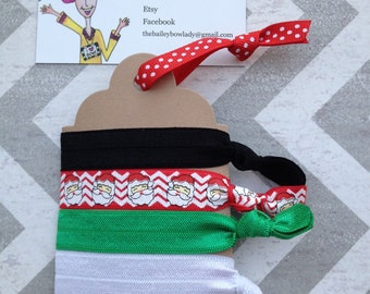 Ready to Ship Christmas Hair Ties/Christmas Stocking Stuffer/Christmas Secret Santa Gift