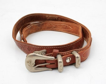 Gil Holsters Brown Leather Western Belt