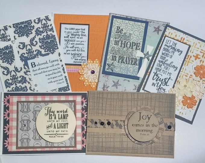 SALE Handmade Bible Verse Cards Christian Greeting Cards. 13 Asst Faith cards scripture God Bible psalms notecards CollegeDreaminKid