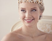 Bridal headband, Gold headpiece, Gold headband, Wedding headband, Rhinestone headband, Crystal headband, Bridal headpiece Wedding accessorie