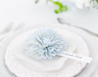 Bridal Shower Place Cards, Hydrangea Blue Place Cards, Wedding Escort Cards, Dinner Party Place Cards