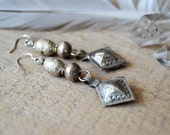 Boho earrings - Kuchi and Ethiopian prayer bead earrings - ethnic tribal bohemian jewelry