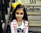 Girls Hair Bows, 5 Inch Hair Bows, Toddler Hair Bows, Large Hair Bows, Hair Bows, Hairbows, Big Bows, Alligaotr Clip, Barrette, 500