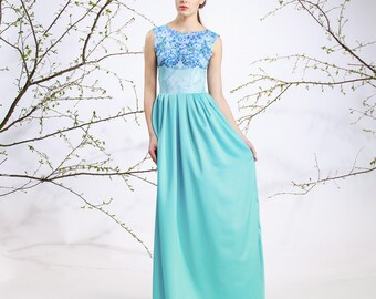 Porcelain Flowers - maxi dress