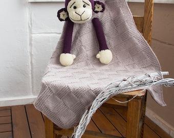 Monkey Baby Blanket Knitting Pattern : Dog Toy Baby Blanket knitting pattern