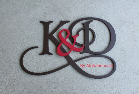 Items Similar To His And Hers Wooden Monogram Initials