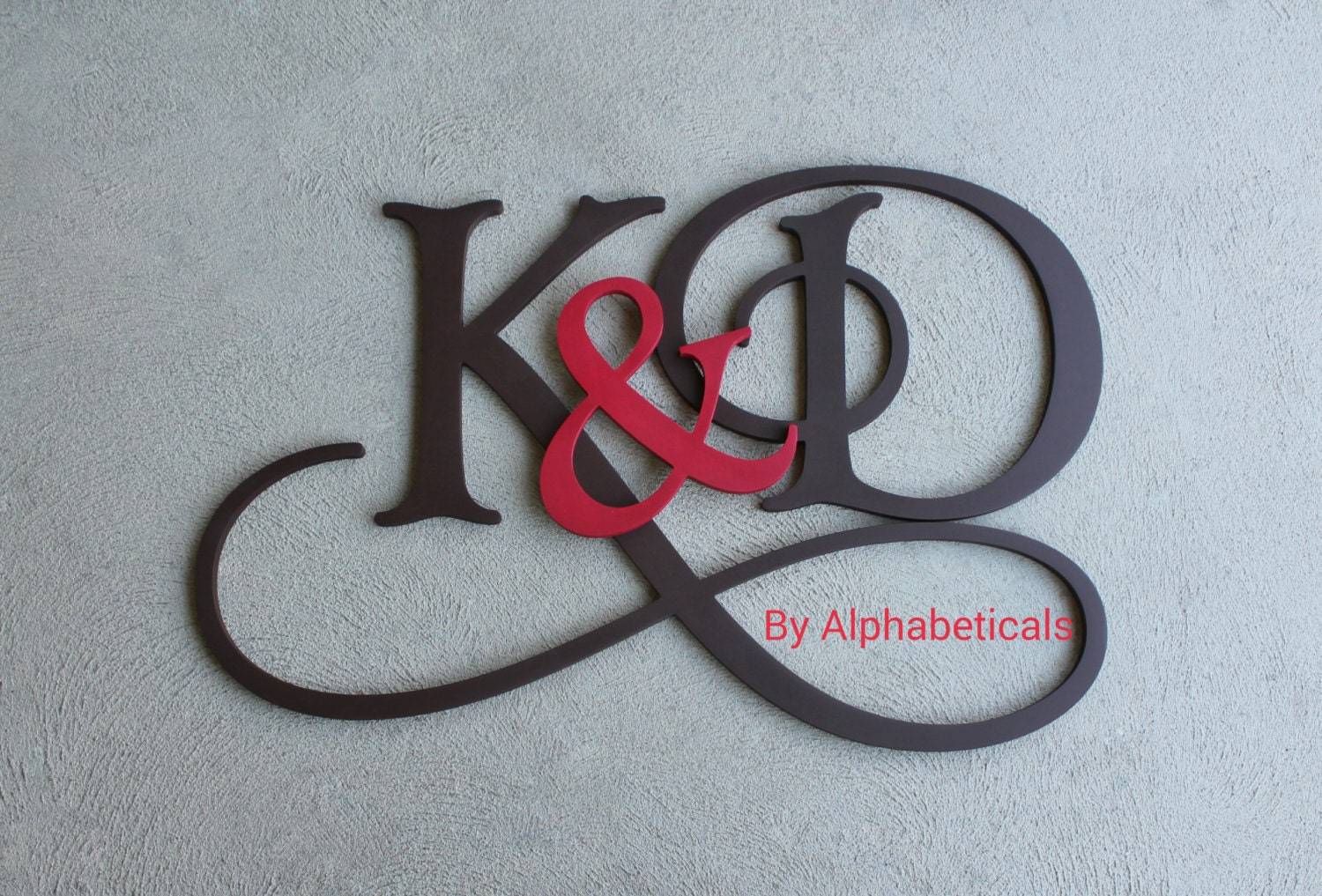 His and hers wooden monogram initials couples wooden letters zoom amipublicfo Image collections
