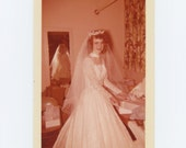 "Vintage Snapshot Photo: ""Shirley at her Wedding, c1950s (68493)"