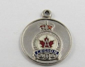 Vintage Canadian Legion Sterling Silver Charm or Pendant BM Co.