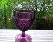 fenton purple hobnail goblet