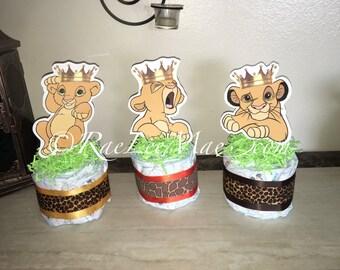Crowned Baby Simba Lion King Diaper Cake Minis  Simba/Lion King Baby Shower/