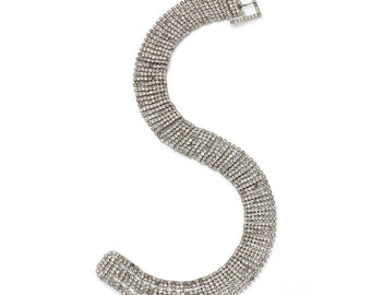 S.A.LE was 180 now 150 divine vintage 40s/50s diamante rhinestone crystal silver metal jewelled belt